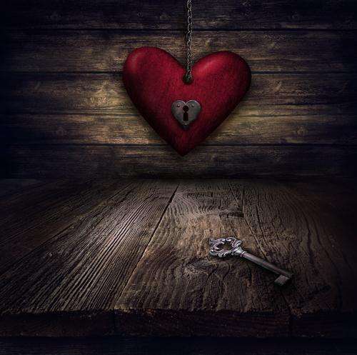 Valentines design - Heart in chains
